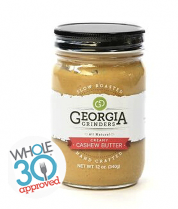 cashew butter with whole 30 logo
